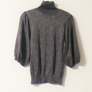 INC Gray Sparkle Knit Turtle Neck Sweater